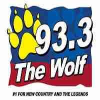 93.3 The Wolf Logo